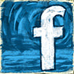 Facebook Blue Paint Button