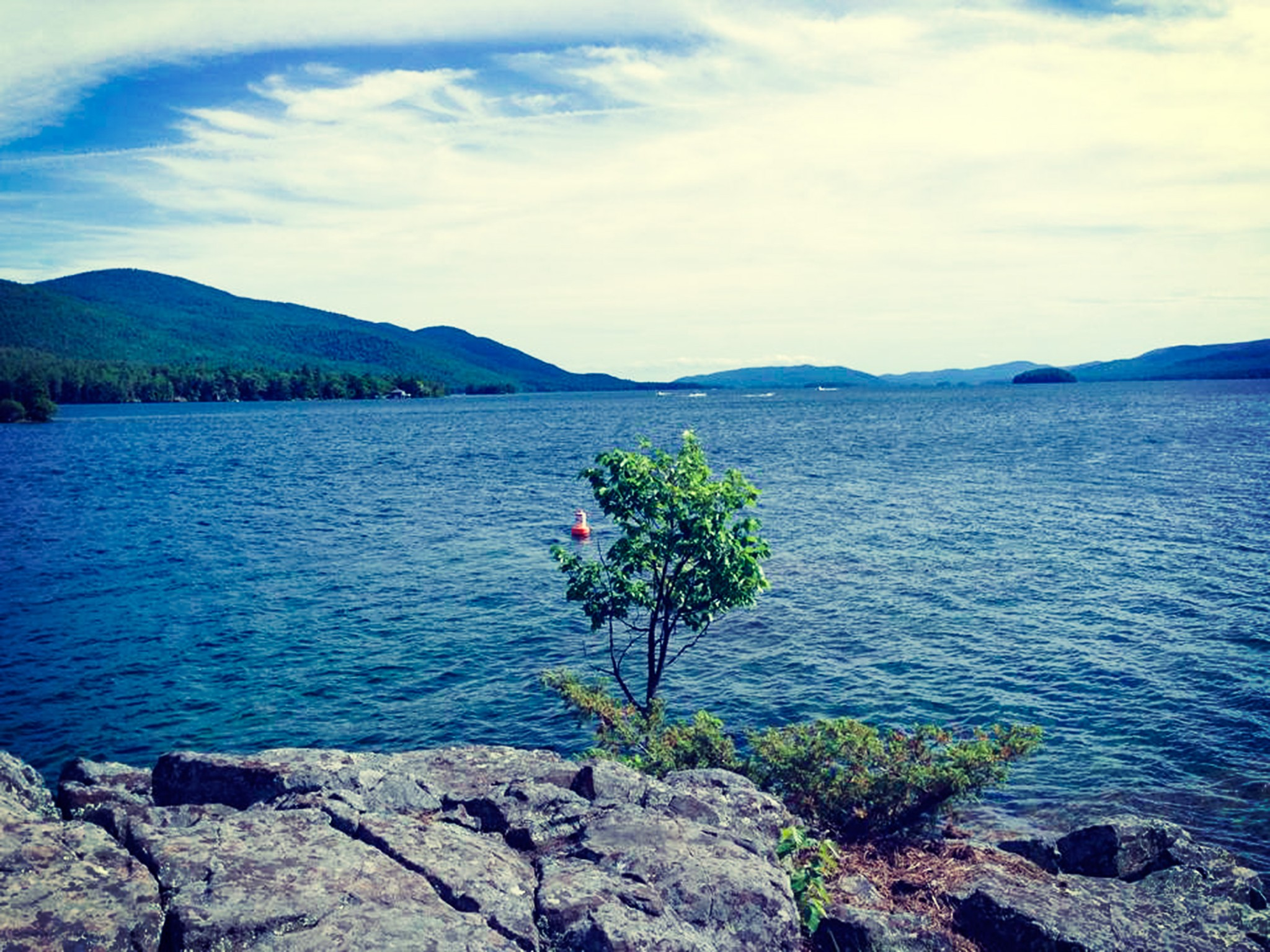 Lake George Island Background